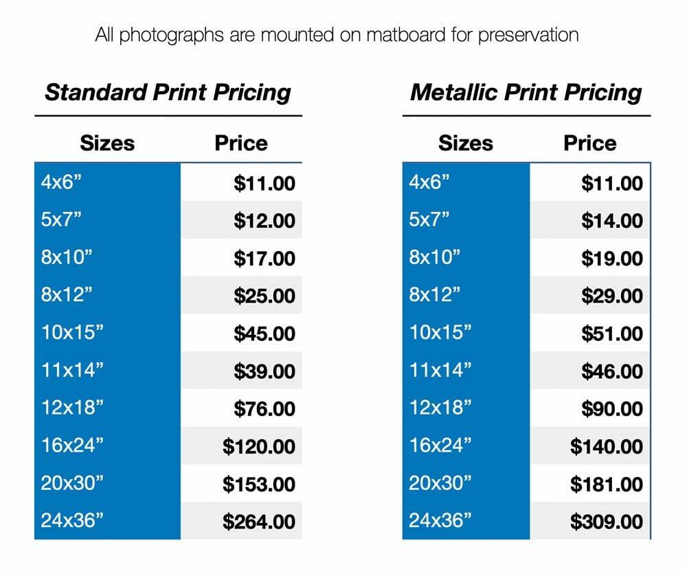GT Photo Print Pricing